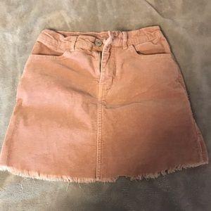 Brandy Melville Pink Corduroy Skirt